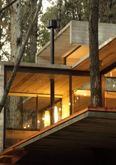 Love this modern take on a tree house!