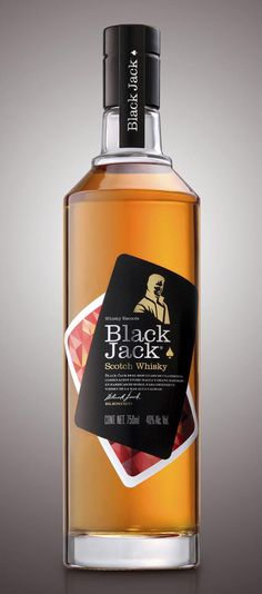 Brand and package design for Black Jack Scotch Whisky by Buenos Aires based package design agency Tridimage. http://thedieline.com