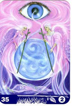 2 de bâtons - New Aura Soma Tarot