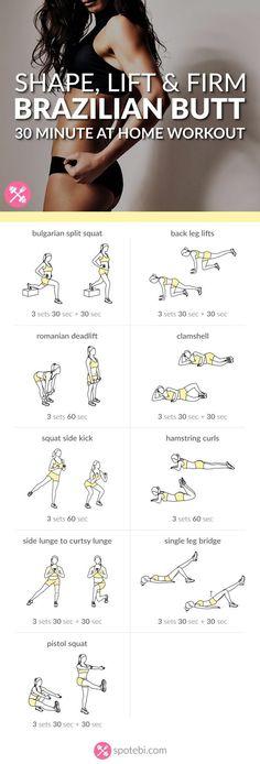 Awesome!! Shape, Lift & Firm | Brazilian Butt Workout For Women diet plan for beginners