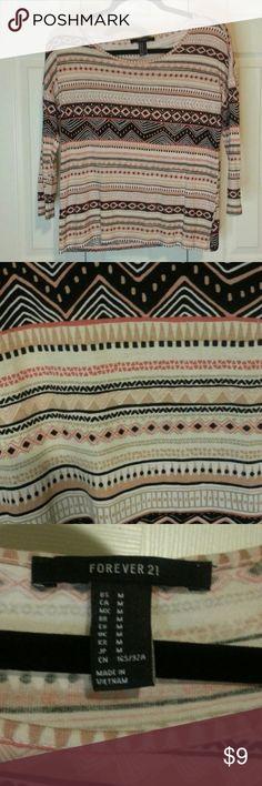 Tribal shirt Forever 21 tribal print size M Forever 21 Tops