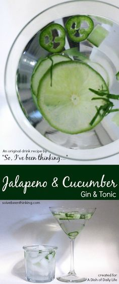 Jalapeño & Cucumber Gin & Tonic - a grown-up St. Patrick's Day cocktail with a little bit of green and lots of great flavor!