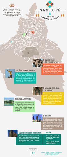Qué ver en Santa Fe #SantaFe #Mexico #infografía