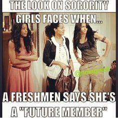 .*Freshman* SMH LOL #teamAKA
