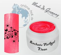 5ml UV Exclusiv Neon-Farbgel Rot Metallic