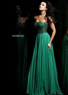 Sherri Hill 11075 Strapless Evening Gown