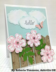 Scrapbook or card Embellishment idea Cards For Friends, Friend Cards, Scrapbook Embellishments, Flower Cards, Pansies, Homemade Cards, Stampin Up Cards, Crafts To Make, Making Ideas