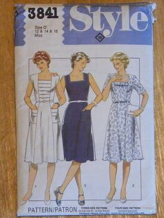 Style Ladies Sewing Pattern 3841  1980's by SuesUpcyclednVintage, $5.00