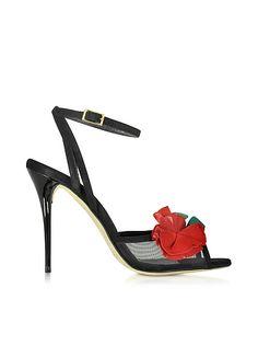 Oscar+de+la+Renta+Black+Carnation+Suede+Olive+Sandal