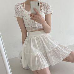 Cute Fashion, Asian Fashion, Girl Fashion, Fashion Outfits, Cute Casual Outfits, Girly Outfits, Pretty Outfits, Summer Outfits, Kpop Outfits
