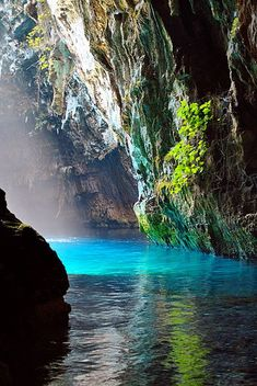 Melissani cave ~ Greece by Hannu Nevanoja