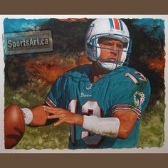 Marino - Football - Sports Art Gallery - SportsArt.ca  $3500