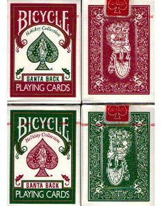 Bicycle Santa Back Playing Cards 2 Deck Set with Tin. $159.99. #playingcards #poker #games #collectibles