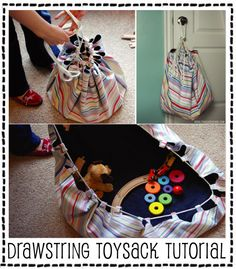Toy mat/sack - I keep seeing this in catalogs, heres a DIY version