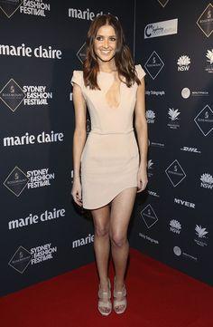 Alex Perry dress, Balenciaga heels.