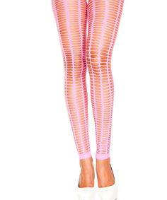 This Pink Oval Cutout Footless Tights is perfect! #zulilyfinds