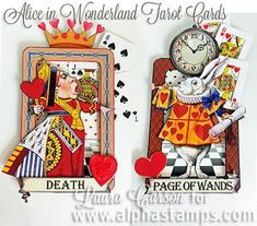 Alpha Stamps News Alice In Wonderland Invitations, Alice In Wonderland Theme, Handmade Crafts, Diy And Crafts, Paper Crafts, Alice Book, Collage Art Mixed Media, Assemblage Art, Book Making