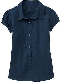 $10 - Old Navy - Girls Uniform Ruched-Sleeve Tops