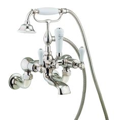 Crosswater - Belgravia Lever Wall Mounted Bath Shower Mixer - Nickel profile large image view 1