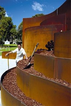 sheet metal retaining walls... if money wasn't an object!!!