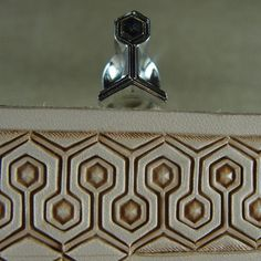 Stainless Steel Barry King - #1 Honeycomb Serpentine Border Stamp (Leather Tool)