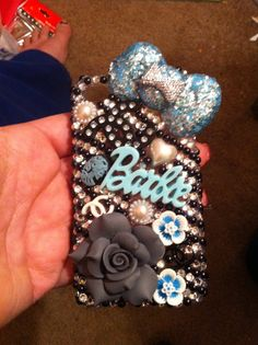 Blue Barbie Case iPhone 4/4s by DazzlingCases on Etsy, $22.50