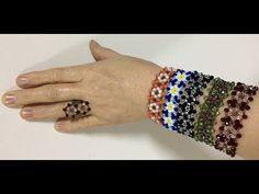 YAZ GÜLÜ BİLEKLİK YAPIMI - YouTube Jewelry Making Beads, Diy Jewelry, Beaded Jewelry, Handmade Jewelry, Jewelry Design, Beaded Bracelets, Jewlery, Beading Patterns Free, Beading Tutorials
