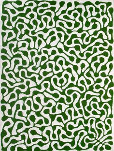 Mitjili Napurrula, Watiya Tjuta (green and white smaller), 2000
