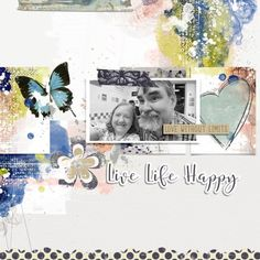 Create an Artsy Layout with a Traditional Template Video Tutorial - Oscraps :: Digital Scrapbooking- 1 photo layout, a band set in an artsy background