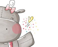 Such a sweet hippo Cute Hippo, Baby Hippo, Baby Animals, Cute Animals, Animal Drawings, Cute Drawings, Fantasy Paintings, Baby Album, Elephant Nursery