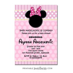 Minnie mouse baby shower invitations printable minnie mouse baby minnie mouse baby shower invitations printable minnie mouse baby shower invitation pink black girl baby shower invites pinterest minnie mouse baby filmwisefo