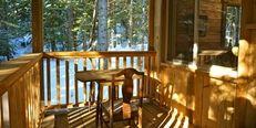 Creek, mountain, porch, rustic, spacious. Elise Cabin | Logden Lodge Porch, Photo Galleries, Mountain, Cabin, Rustic, Luxury, Outdoor Decor, Home Decor, Balcony