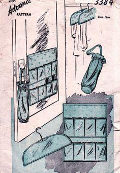 1940s Vintage Accessory Pattern Advance 3384 // Factory