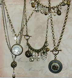 Vintage Button Necklace- Upcycled Jewelry by Donna ...