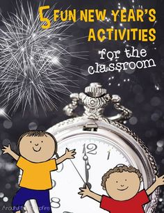 5 Fun New Year's Activities for the Classroom (plus a free Ring in the New Year ring pop printable) Easy ideas and media links for learning about the history of celebrating, traditions around the world, and writing resolutions! | New Year's activities for kids