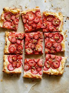 Strawberry and Pistachio Tart http://www.spoonforkbacon.com/2017/06/strawberry-and-pistachio-tart/