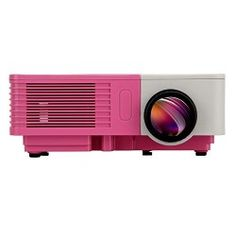 EUG 500D+ Best Mini Pocket HMDI LED Home Theater Video Projector Support 1080p Full DH 100 Lumens for Home Cinema Theater & Games With USB SD HDMI VGA AV TV Port (Portable Gray-Pink)