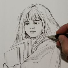 English Movies, Cool Art Drawings, Hermione Granger, Harry Potter, Fan Art, Watercolor, Pencil Illustration, Image, Sketch