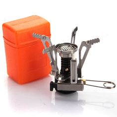 Ultralight Backpacking Canister Camp Stove with Piezo Ignition 3.9oz (silvery Stove and orange box) - http://www.gadgets-magazine.com/ultralight-backpacking-canister-camp-stove-with-piezo-ignition-3-9oz-silvery-stove-and-orange-box/
