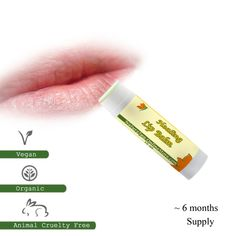 Organic Healing Lip Balm made with Lavender and Peppermint essential oils
