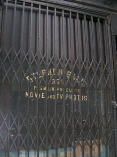 Old school store gate, Manhattan, NY, NY.