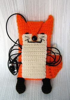 Anna Vozika's Blog: Fox iPhone 5 and 4 case (cozy, sleeve, cover) Crochet PDF Pattern