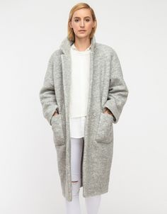Gray wool Teddy Coat #minimalist #fashion #style