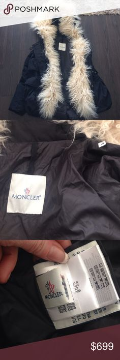 Moncler Mongolian lamb fur coat 1 Great jacket. Was too big for me. Small hole in the back. Can be fixed with a quick stitch Moncler Jackets & Coats Puffers