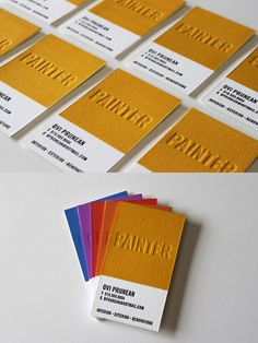 Ovi Prunean Painter Business Card by James Prunean
