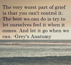#greysanatomy The worst part of grief