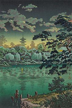 "Japanese Art Print ""Ueno Shinobazu Pond"" by Tsuchiya Koitsu. Shin Hanga and Art Reproductions http://www.amazon.com/dp/B00VCGCFE0/ref=cm_sw_r_pi_dp_--Vvwb1TY33D8"
