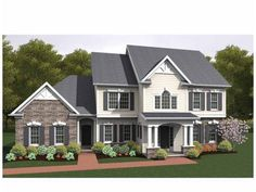 Colonial House Plan with 2860 Square Feet and 4 Bedrooms from Dream Home Source   House Plan Code DHSW75165 --- my dream house!!