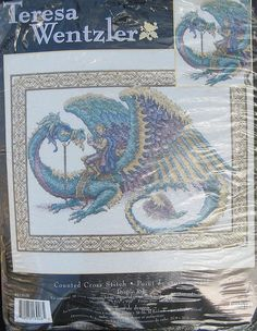 Teresa Wentzler Cross Stitch Kit Dragon Ride by TheHowlingHag, $34.95
