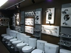 New Toto Display at Abe's Discount Plumbing & Electrical